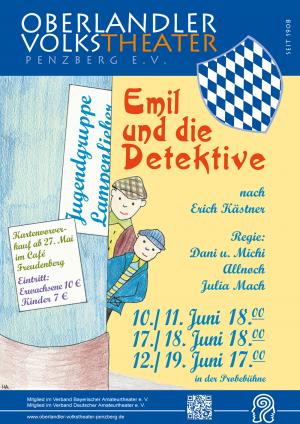 Plakat Emil und die Detektive 2016 © OVTP / gp, mib