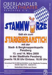 Plakat: Starkbieranstich 2009