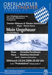 Plakat: Gastspiel - Mein Ungeheuer 2008