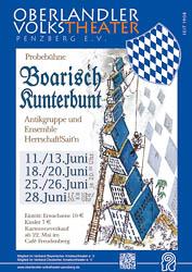 Plakat: Boarisch kunterbunt 2015