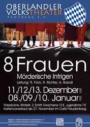 Plakat: 8 Frauen 2015/16