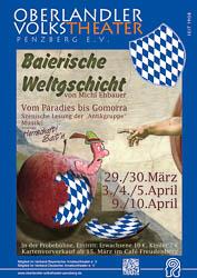 Plakat: Baierische Weltgschicht 2014
