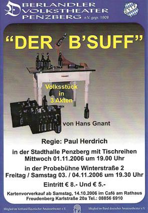 Plakat Der Bsuff © OVTP
