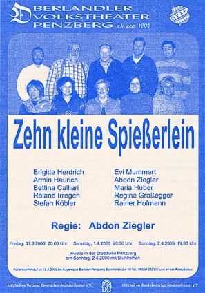 Plakat Zehn kleine Spießerlein © OVTP