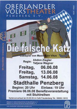 Plakat: Die falsche Katz © OVTP