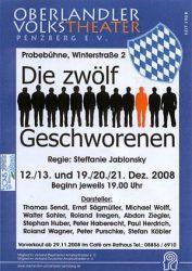 Plakat: Die zwölf Geschworenen © OVTP