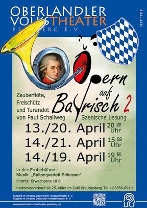 Plakat Opern auf Bayrisch II © OVTP / gp, ph, cc.Lizenz (Mozart)