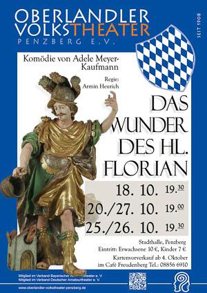 Plakat © OVTP / gp, (Hl. Florian) m. freundl. Genehm. der BOXMARK Leather GmbH & Co KG Feldbach / Österreich