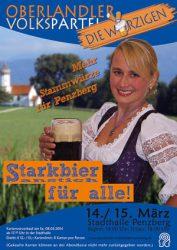 Plakat Starkbier 2014 © OVTP / gp