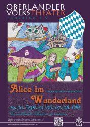 Plakat zu Alice im Wunderland © OVTP / gp, Laura Bartl