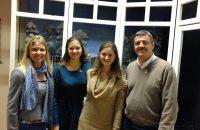 Frau Herdrich (li) mit drei unserer neuen Mitglieder: Arabella, Antonia und Norbert - © OVTP / gp