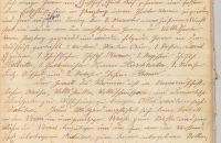 Die erste Seite des Protokollbuches über die Vereinsgründung 1908