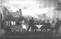 Das älteste noch erhaltene Photo des Theatervereins. Es muss bei den ersten Inszenierungen um 1909 entstanden sein. © StaP