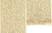 Zeitungsartikel zum 20-jährigen Gründungsfest 1928