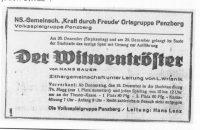 Diese Anzeige erschien im Penzberger Anzeiger 1943.