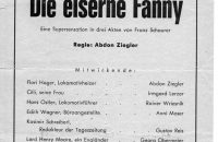 "Flyer ""Die eiserne Fanny"" 1972"