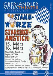 Plakat: Starkbieranstich 2013