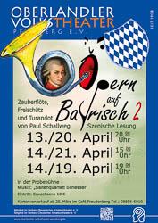 Plakat: Opern auf Bayrisch II 2013