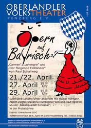 Plakat: Opern auf Bayrisch 2012