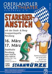 Plakat: Starkbieranstich 2012