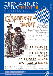 Plakat: G'spenstermacher 2012
