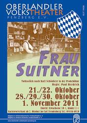 Plakat: Frau Suitner 2011