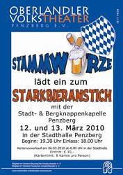 Plakat: Starkbieranstich 2010