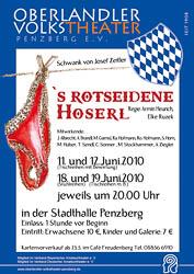 Plakat: Das rotseidene Hoserl 2010