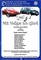 Plakat: Mit Vollgas ins Glück 2007