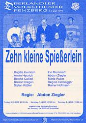 Plakat: Zehn kleine Spießerlein 2006
