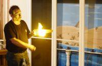 Das Flammenschwert mit Pyroschnur - © OVTP / gp