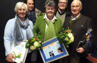 Für langjährige Mitgliedschaft wurden geehrt: (v.l.): Marianne Hornbogner (50 Jahre), Elke Ruzek (25 Jahre), Inge Wagner (61 Jahre), Mike Wolff (26 Jahre), Franz Wagner (60 Jahre) © OVTP / gp