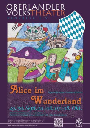 Plakat Alice im Wunderland © OVTP / gp, Laura Bartl