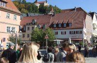 Der Kulmbacher Stadtplatz mit dem Schloss des Markgrafen © G. Prantl / OVTP
