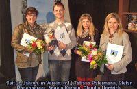 Seit 25 Jahren im Verein: (v.l.) Tatjana Patermann, Stefan Rosenberger, Angela Korpan, Claudia Herdrich, nicht im Bild: Markus Bocksberger, Marcus Conrad © G. Prantl / OVTP