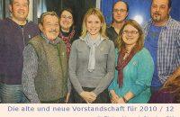 Die alte und neue Vorstandschaft für 2010 / 10 © zek / PM