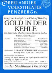 Gold in der Kehle - Plakat