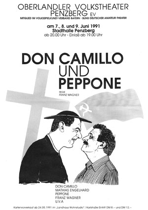 Don Camillo und Peppone 1991 Plakat