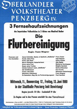 Flurbereinigung 1980 Plakat