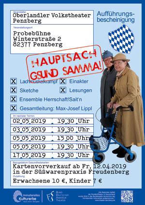 Plakat Hauptsach g'sund samma! © G. Prantl /OVTP