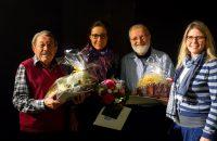 Geehrt wurden (v.l.): Alex Bader (40 Jahre), Bettina Calliari, Max-Josef Lippl (25 Jahre) und Abdon Ziegler (60 Jahre) (nicht im Bild) © G. Prantl / OVTP