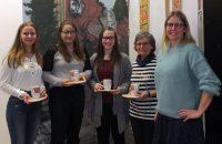 Unsere Neuzugänge: Lena Herting, Jessica Bickel, Rebecca Werner und Anna Maria Stoy-Gsimsl; herzlich willkommen! ©gp/ovtp