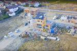 Das Erschließungsgebiet Birkenstraße - Das Kamerateam hatte auch eine Drohne dabei.